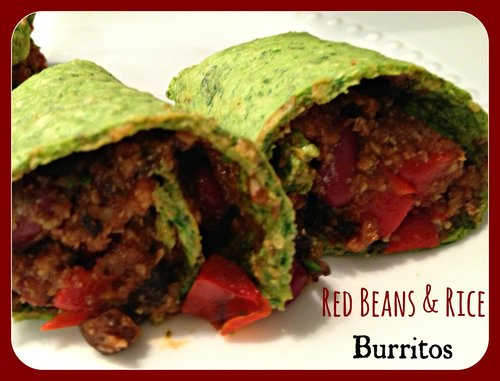 Red Beans & Rice Burritos
