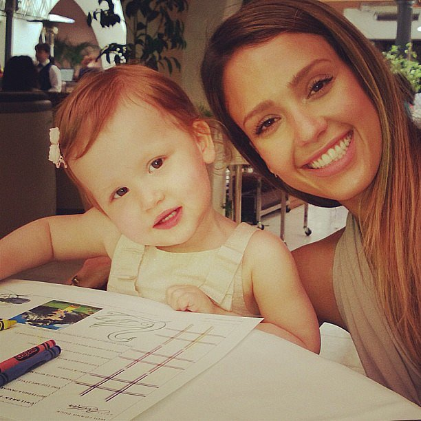 Little Haven Warren showed just how much she's like her mom with the same head tilt. Source: Instagram user jessicaalba
