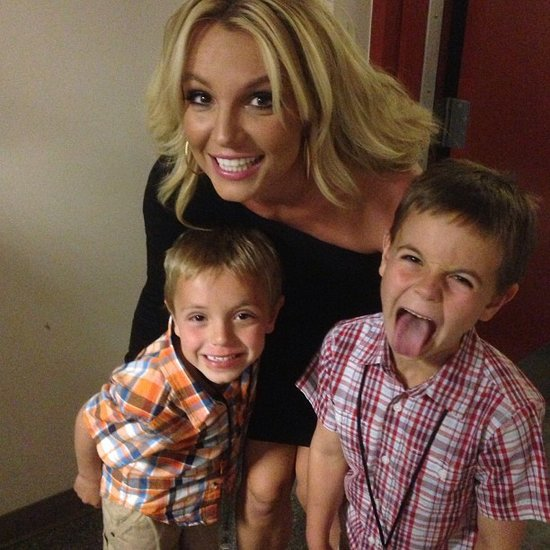 Britney Spears had her goofy boys by her side for Mother's Day. Source: Instagram user britneyspears