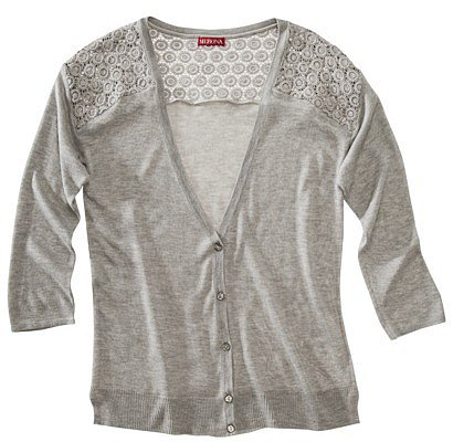 Merona Women&#039;s Cardigan Sweater w/Crochet Insets - Assorted Colors