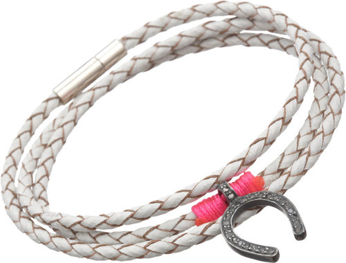 The FFS Wrap Bracelet with Diamond Horseshoe Charm