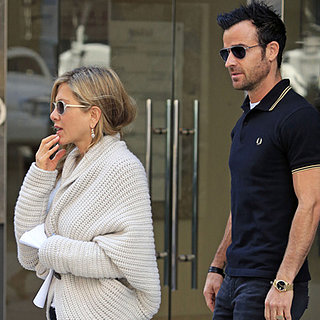 Jennifer Aniston and Justin Theroux Shopping in NYC