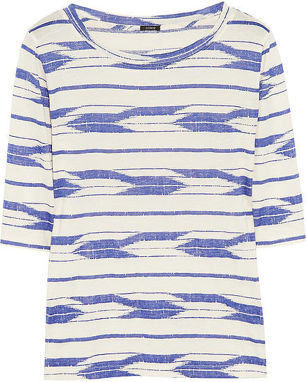 We love the elbow-length sleeves and chic boho print on J.Crew's Ikat Cotton T-Shirt ($48).
