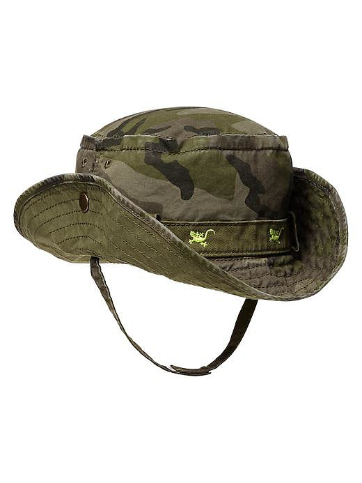 Your rugged little man's sun hat can match his rough-and-tumble personality if you opt for BabyGap's Cargo Camo Sun Hat ($15).