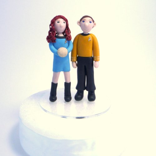Star Trek Wedding Cake Toppers