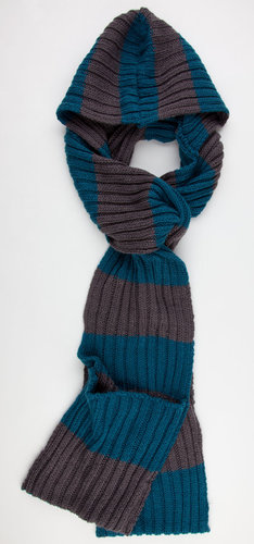 Striped Hooded Scarf