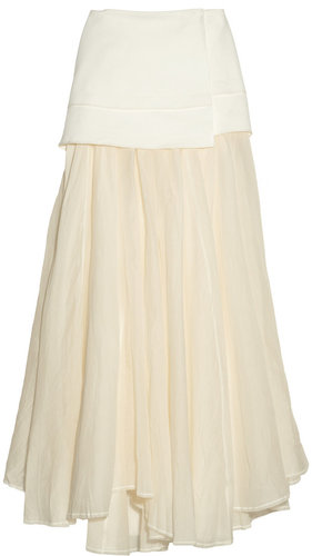 Acne Moon cotton-canvas and cotton-voile maxi skirt