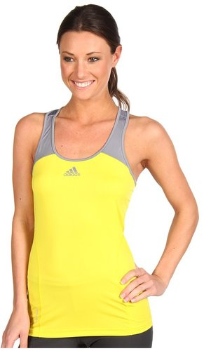 adidas - adizero Tank (Vivid Yellow/Tech Grey) - Apparel