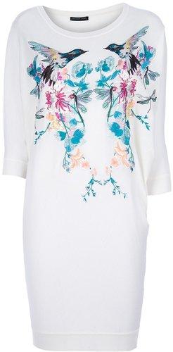Alexander McQueen hummingbird embroidered dress