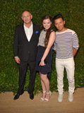 John Demsey, Hailee Steinfeld, and Prabal Gurung posed for a photo at the Vogue and MAC Cosmetics dinner.