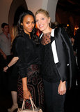 Zoe Saldana and Petra Flannery enjoyed the night.