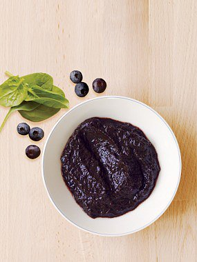 Blueberry Spinach Puree