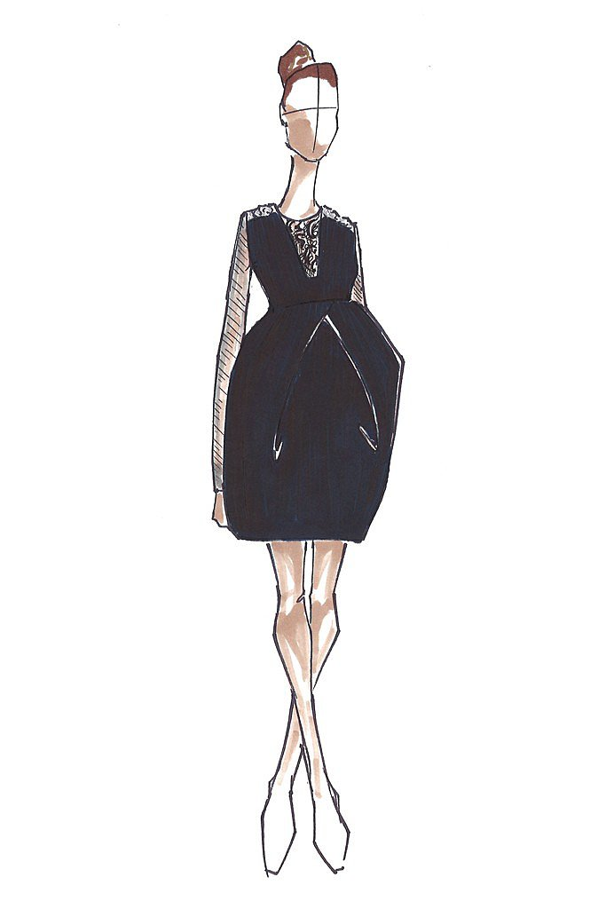 Vera Wang for Kate Middleton  Source: courtesy of designer via WWD