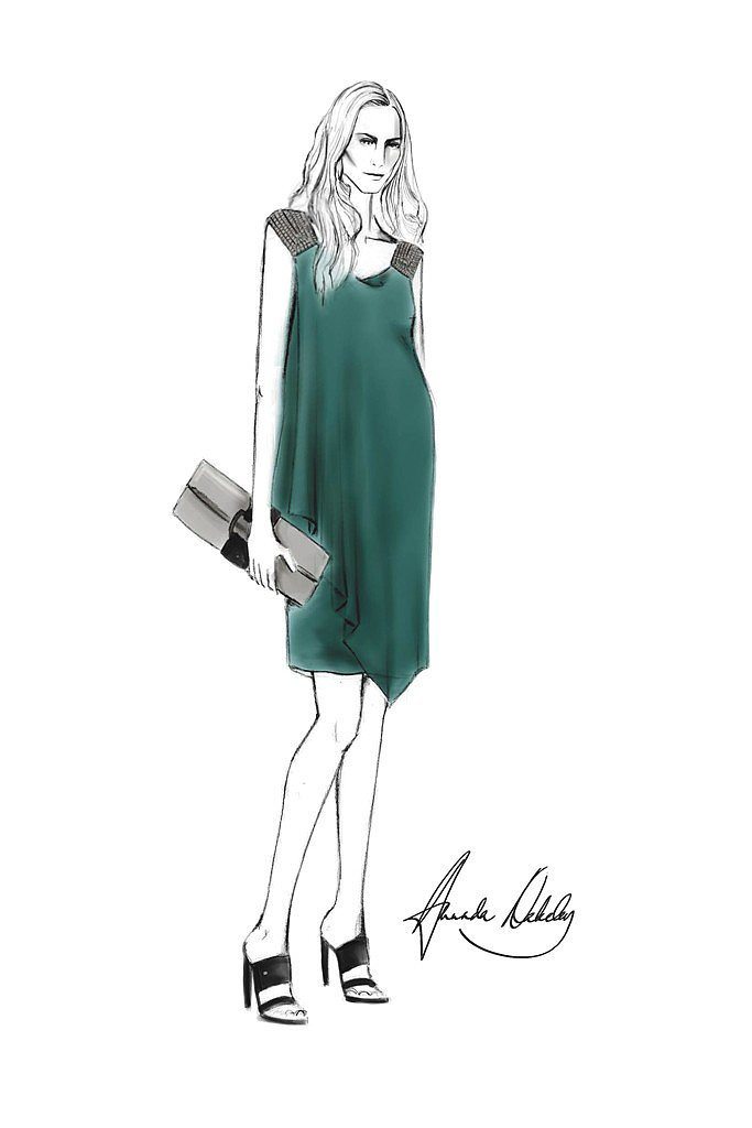 Amanda Wakeley for Kate Middleton Source: courtesy of designer via WWD