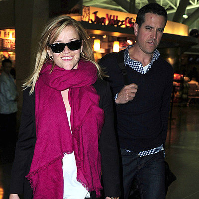 Reese Witherspoon at JFK With Jim Toth