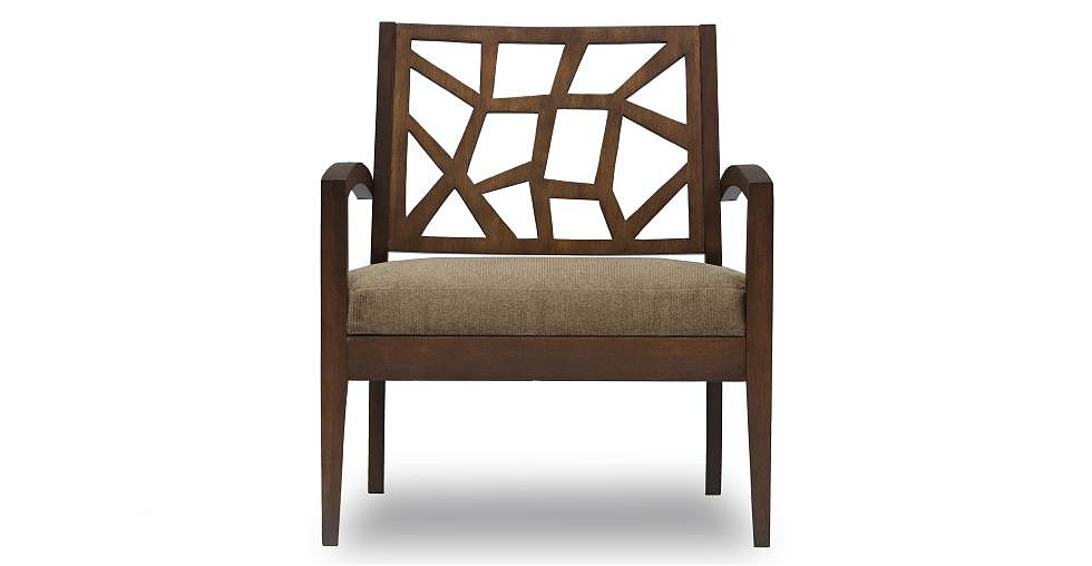 With an abstract, faceted backrest, the Jenifer Lounge Chair ($339) is a standout, fearless piece that reminds us a bit of Crate&Barrel's Ankara Chair ($699) — with a much friendlier price point.