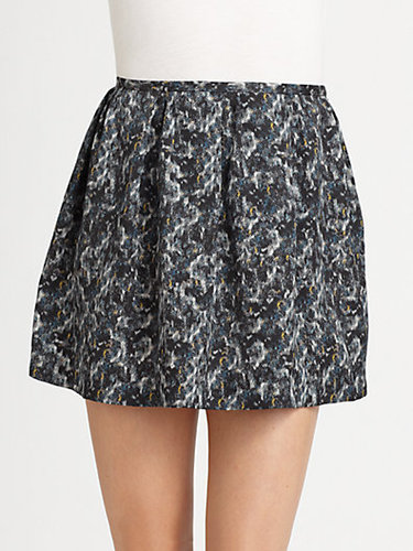 Theory Lilory Silk Skirt