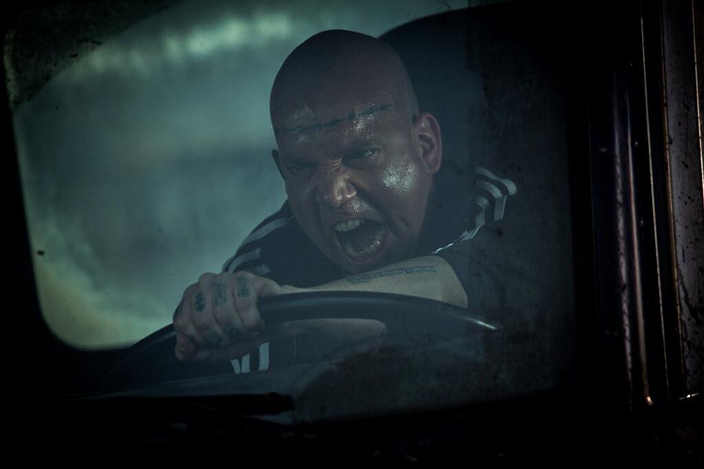 The Amazing Spider-Man 2 director Marc Webb shared a shot of Paul Giamatti as Aleksei Sytsevich/The Rhino. Source: Twitter user MarcW