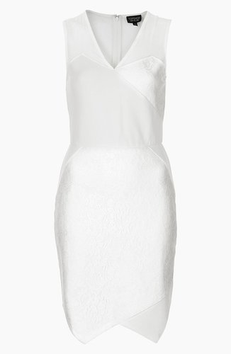 Topshop Lace Applique Dress