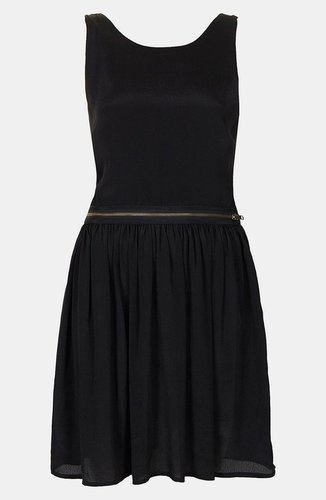 Topshop Zipper Pinafore Dress