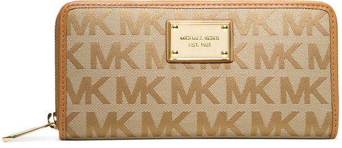MICHAEL Michael Kors Handbag, Signature Jet Set Ziparound Continental