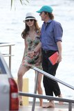 Paul McCartney and Nancy Shevell vacationed on a yacht in St. Barts in December 2012.