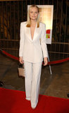 Kate opted for an androgynous white pantsuit, sans shirt, for the Hollywood premiere of The Rules of Attraction in 2002.