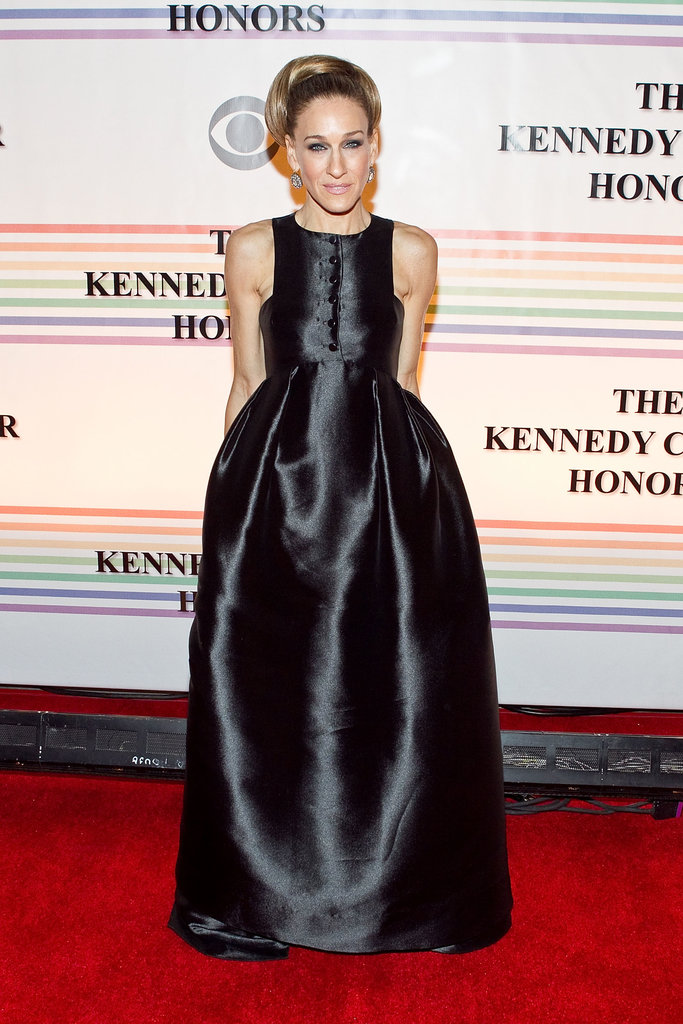 At the 34th Kennedy Center Honors, Parker exuded a goth-glam princess vibe in a dramatic Theyskens' Theory creation, slick updo, and smoky eye shadow.