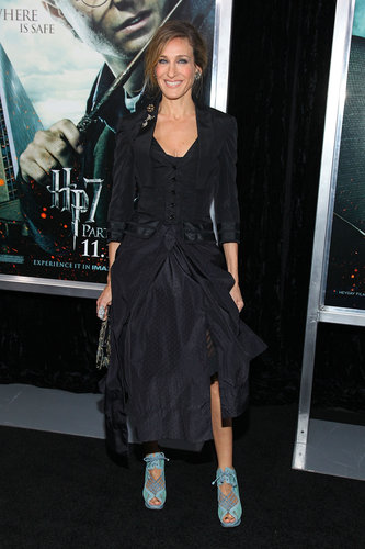 Though Parker's all-black ensemble was gorgeous, it's her baby blue Nicholas Kirkwood lace-ups that really turned heads at the Harry Potter and the Deathly Hallows: Part 1 NYC premiere.