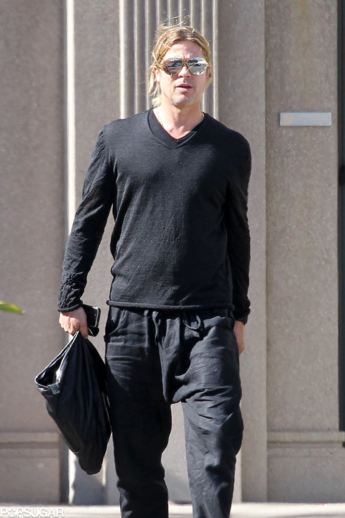 Brad Pitt stayed busy with work in LA.