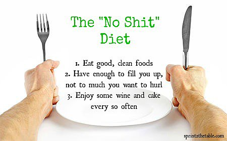 My &quot;No Shit&quot; Diet