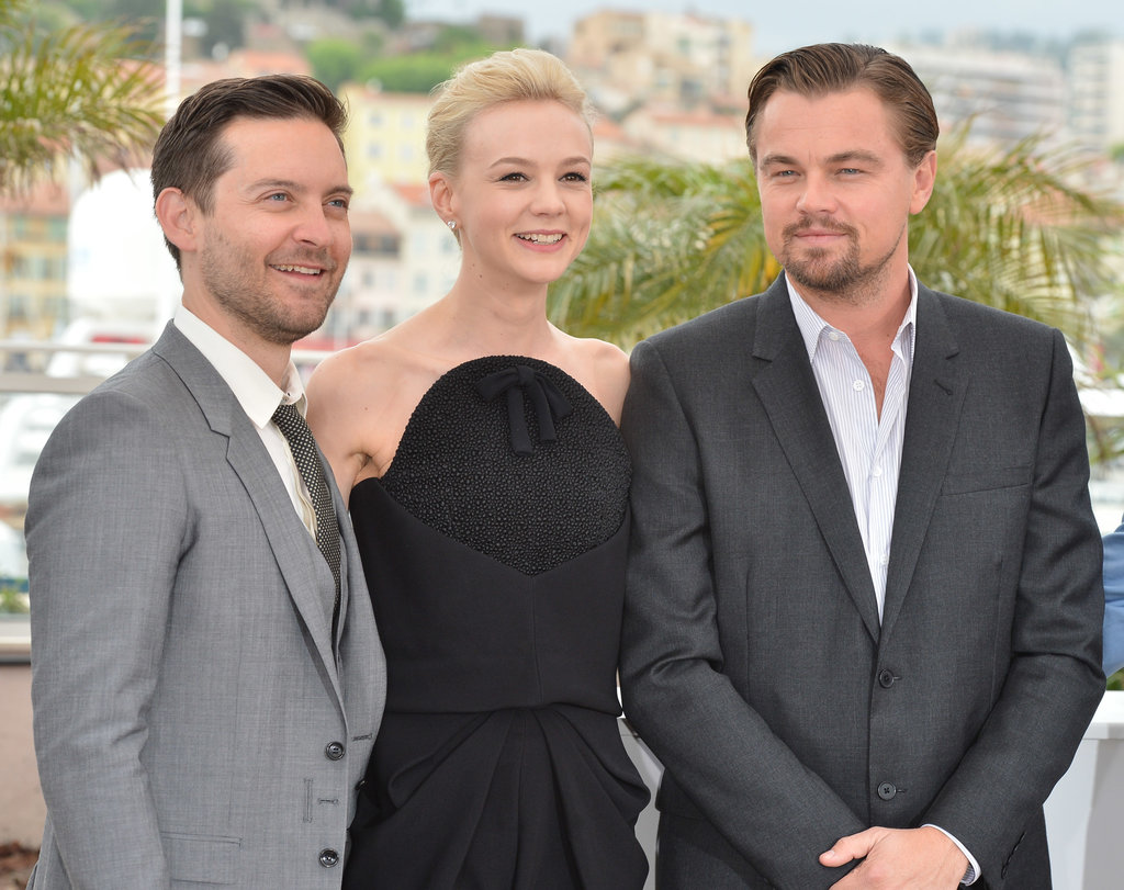 Leonardo DiCaprio, Carey Mulligan, and Tobey Maguire linked up for the Great Gatsby photocall in Cannes.