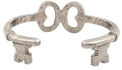 Low Luv - Key Wrap Cuff Bracelet - Silver Plated