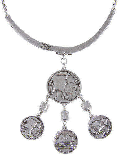 Coin Chandelier Choker in Silver - by Low Luv x Erin Wasson