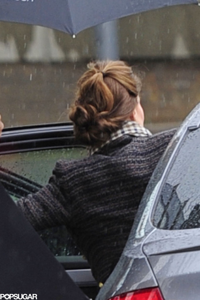 Kate Middleton Keeps It Comfortable in Sneakers During a Rainy Shopping Trip