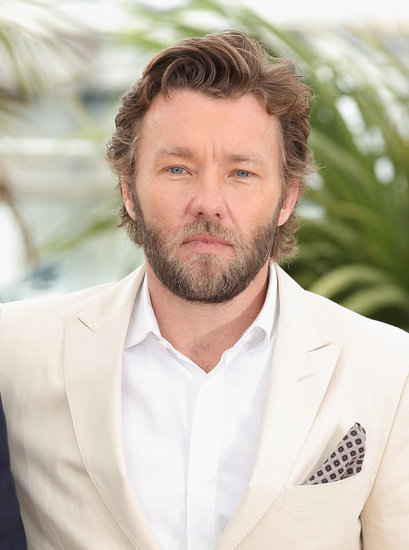 Joel Edgerton wore a white suit to the photocall for The Great Gatsby.