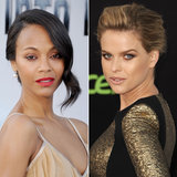 New Photos! Zoe Saldana vs. Alice Eve: Whose Red Carpet Beauty Wins?