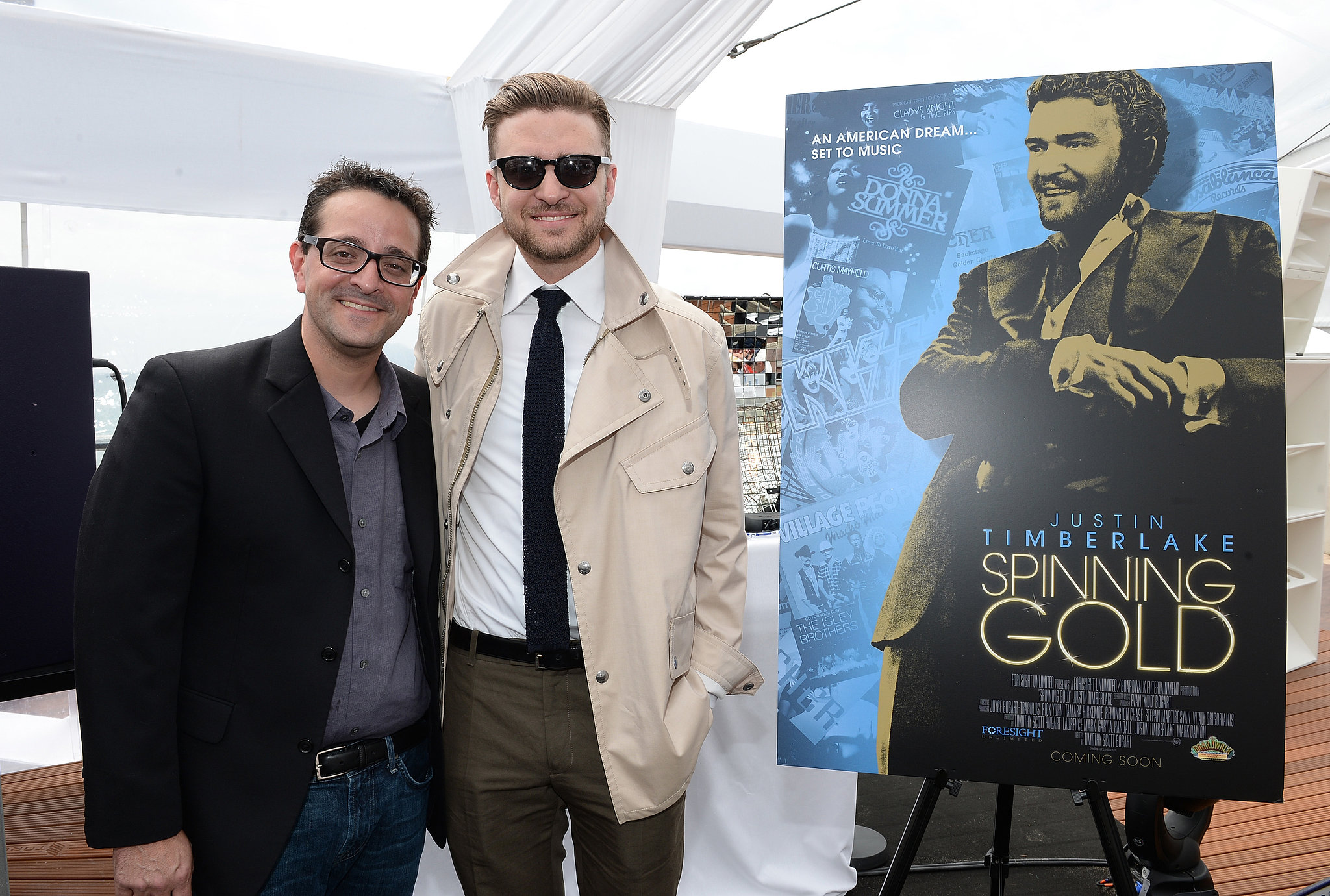 Justin Timberlake celebrated the film Spinning Gold at Torch Cannes.