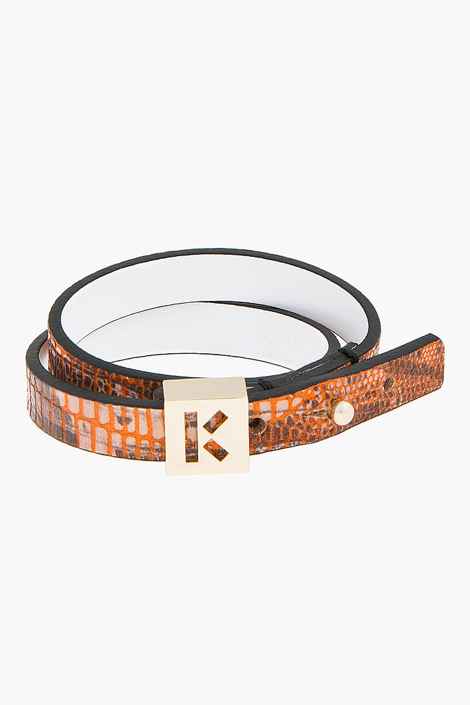 Impart fashion lessons on someone younger. The easiest way to bring fashion into the office is via your accessories. Kenzo's snakeskin wrap bracelet ($215) is a stylish addition to buttoned-up looks.