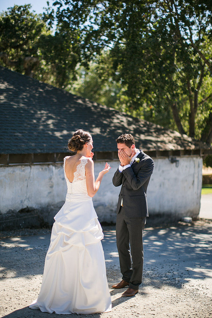 That face says it all.  Photo by Kelly Boitano Photography via Style Me Pretty