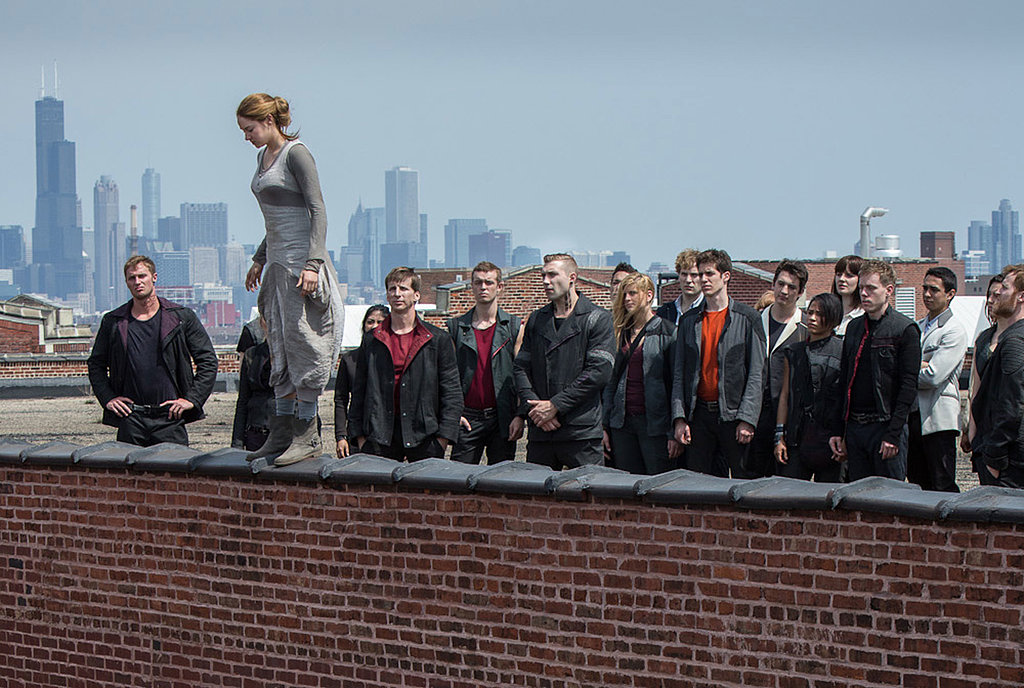 Here's another look at Tris (Shailene Woodley), Christina (Zoë Kravitz), and Peter (Miles Teller) in Divergent.