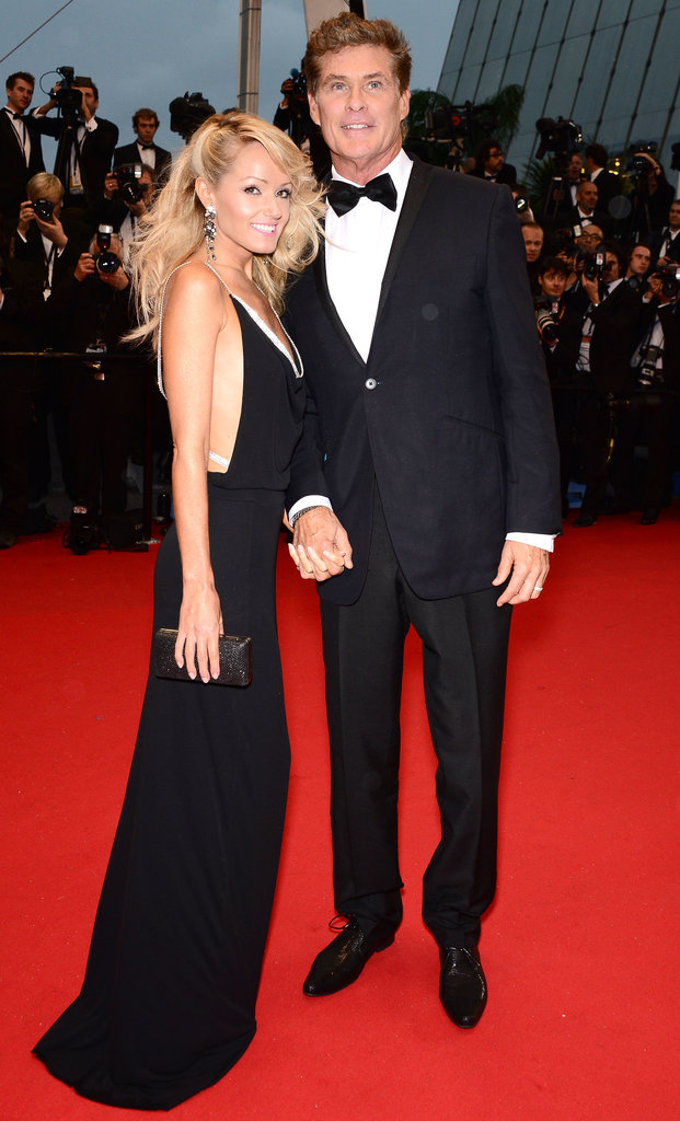 David Hasselhoff held hands with Hayley Roberts on the red carpet.