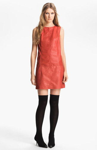 Miss Wu Leather Shift Dress (Nordstrom Exclusive)