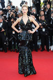Karolina Kurkova wore a Roberto Cavalli gown to the 2012 Cannes premiere of Killing Them Softly.