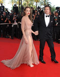 Angelina Jolie wore a nude Atelier Versace dress in 2009 for the Cannes premiere of Inglourious Basterds.