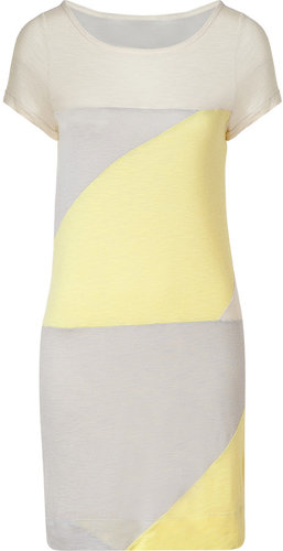 Marc by Marc Jacobs White Swan Multi Colorblock Tanya Dress
