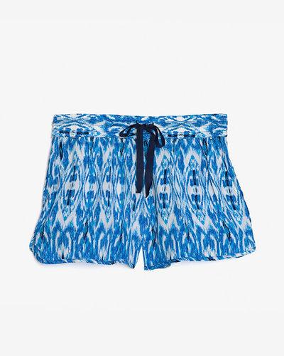 Joie Ikat Print Silk Shorts