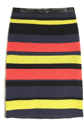 Jason Wu Stripe Pencil Skirt