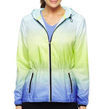 For a lightweight running layer that will keep you warm in cool Spring weather and stand up to Summer showers, this Xersion Dip-Dye Anorak Jacket ($27) is a trendy (and inexpensive) choice.