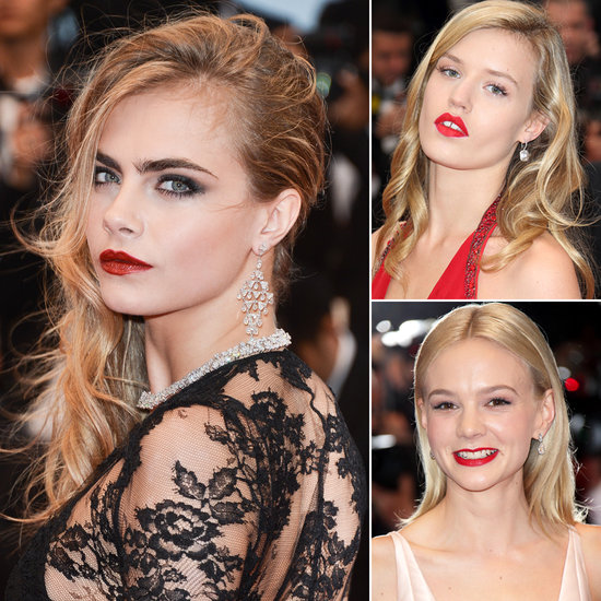 These British Babes Work Red Lips on the Cannes Red Carpet
